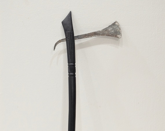 African Axe Ebony Wood Carved Handle Gogo Tribe