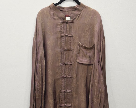 Shirt Brown Silk Chinese Shirt Vietnam