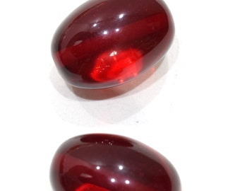 Beads Copal Large Red Oval Amber 40-41mm