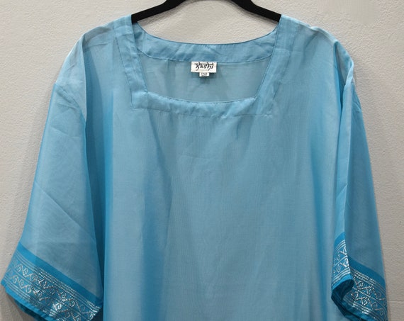 Shirt India Sheer Blue Shirt