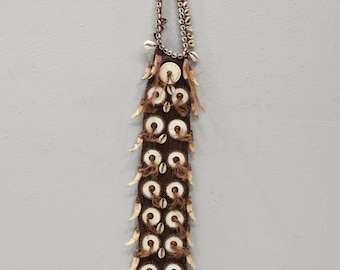 Papua New Guinea Necklace Cowrie Conus Shell Dogs Teeth Status Necklace