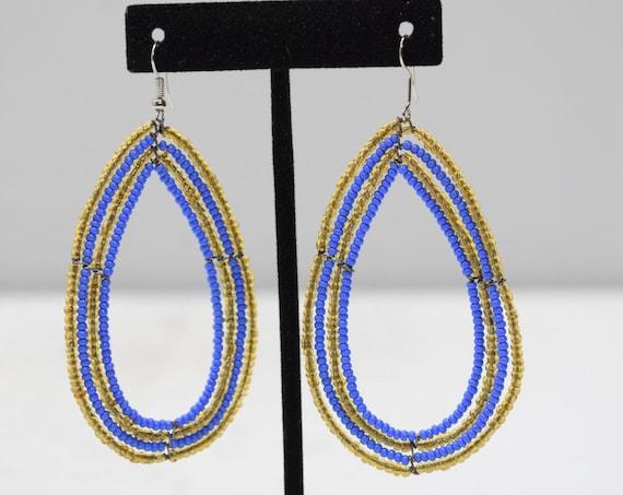 Earrings Oval Beaded Earrings