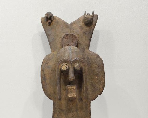 African Mambila Mask Cameroon Wood Initiation Mask