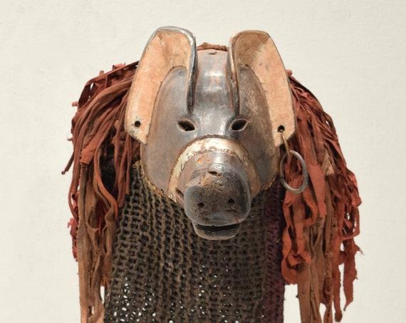 African Mask Chokwe Tribe Mwana Ngulu pig mask  Chokwe Tribe Angola African Mask