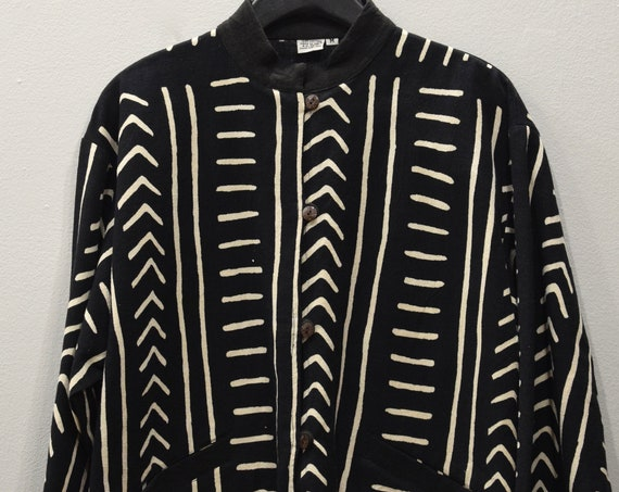 Jacket African Mudcloth Cotton Print Design Jacket