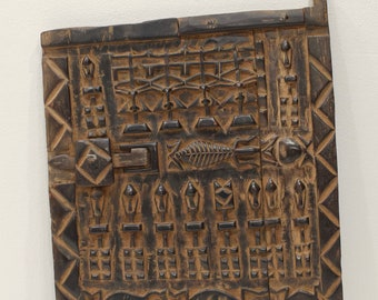 African Dogon Door Carved Wood Granary Door Mali