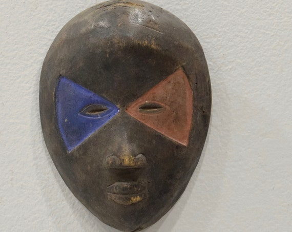 Mask African Wood Dan Passport Mask 6""