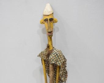 African Statue Bozo Bambara Marionette Puppet Mali