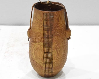 African Turkana Wood Meat Container Kenya