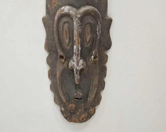 Papua New Guinea Mask Ancestor Spirit Wood Sepik River Mask