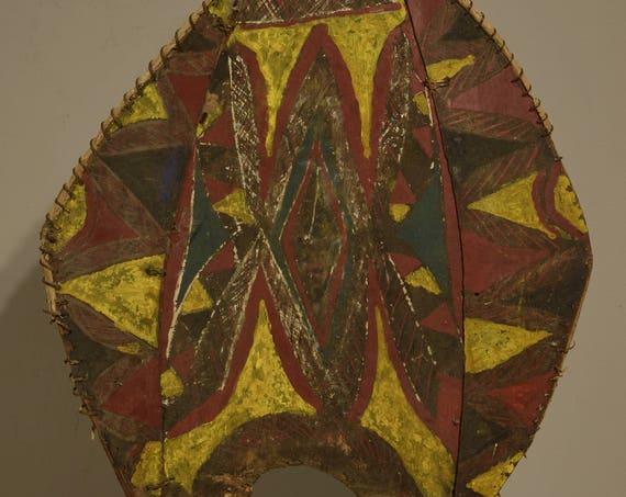 Papua New Guinea Headdress Balsa Wood Abelam Ceremonial Dance Colorful Headdress