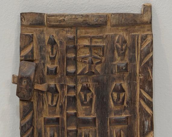 African Dogon Door Carved Wood Granary Door Dogoan Tribe Mali