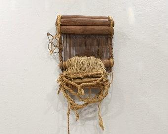 African Baule Tribe Traditional Weaving Loom