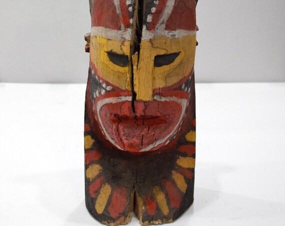 Papua New Guinea Head Statue Maira Mioko Island Deity Statue
