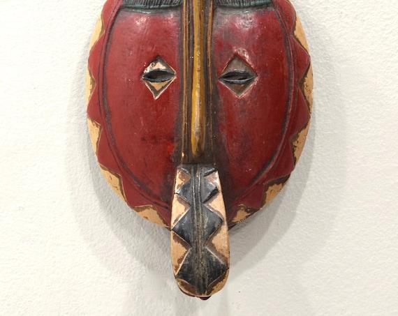 African Mask Baule Tribe Passport Mask Ivory Coast