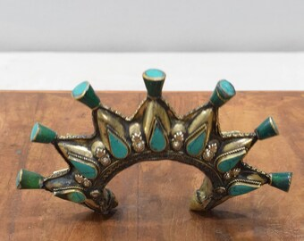 Bracelets Silver Turquoise Afghanistan Spike Cuff