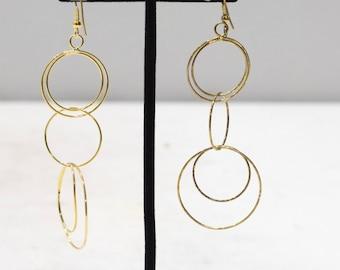 Earrings Gold Long Hoop Dangle Earrings