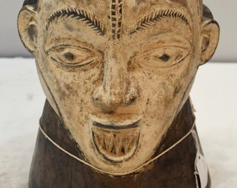 Mask African Two Face Janus Helmet Mask