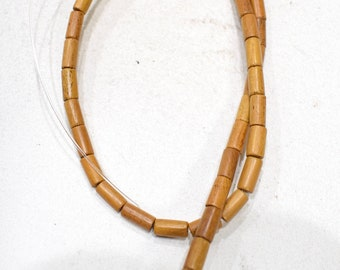 Beads Philippine Nangka Wood Tube Beads 5-6mm