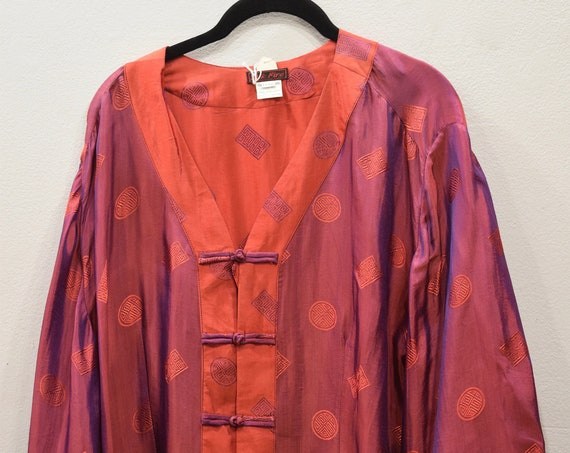 Shirt Red Silk Chinese Shirt Vietnam