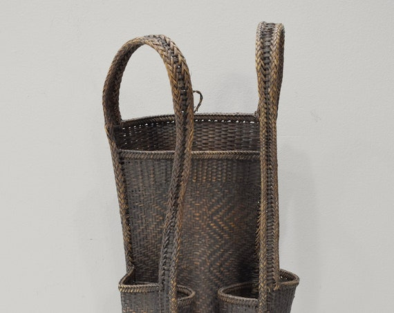 Backpack Laos Rattan Woven Hand Woven Hunting Food Backpack