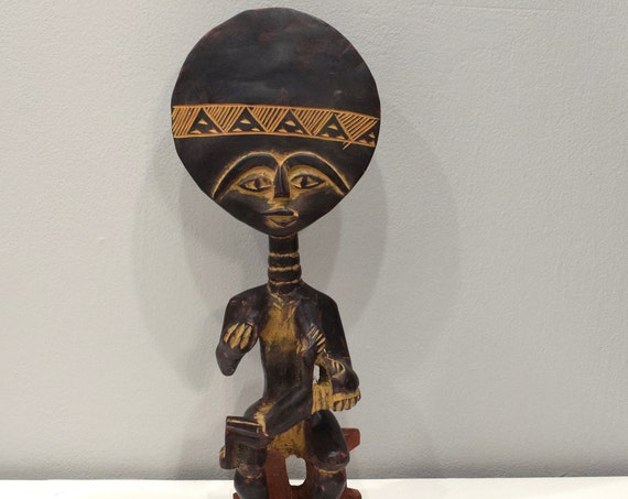 African Ashanti Figure Ghana Large Akua'bua Mother Child Fertility Doll