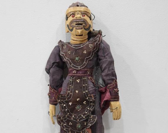 Puppet Marionette Wood Doll Performance Puppet Burmese Puppet Folk Art