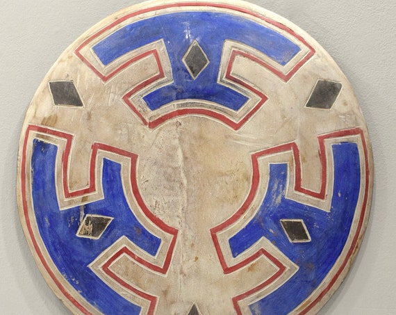 """African Shield Cameroon Painted Wood Decorative Shield 21"""""""