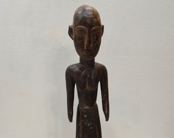 African Lobi Wood Statue Burkina Faso Ceremonial Statue