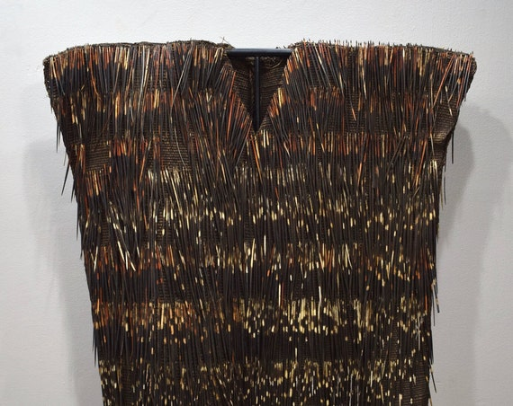 African Bamileke Tribe Ceremonial Porcupine Quill Vest