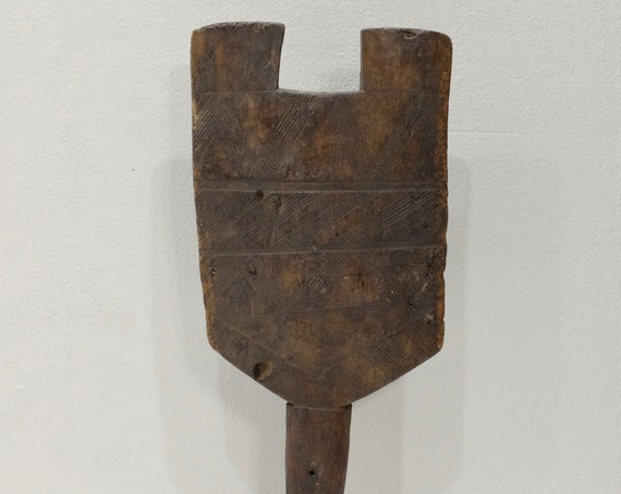 African Tuareg Tribe Wood Peg Post