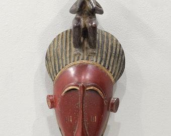 """Mask African Baule  Mask Ivory Coast 18"""""""