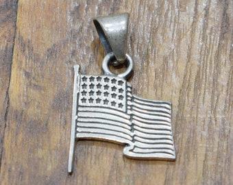 Pendant Sterling Silver Waving Patriarch Flag Pendant