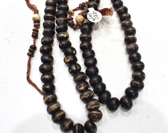Beads Indonesian Wood Mala Beads 10-12mm
