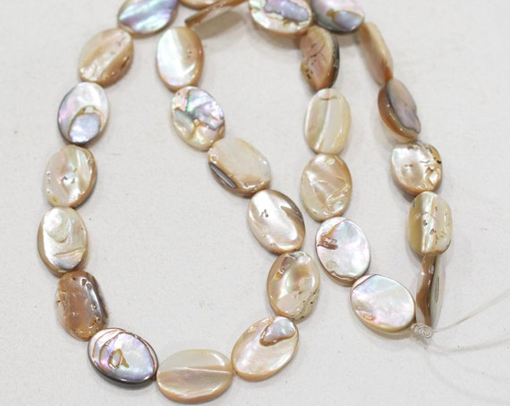 Beads Phillipine Beige Mother of Pearl 15mm