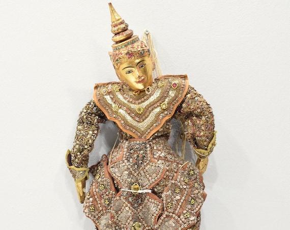 Puppet Marionette Wood Doll Burmese Folk Art Puppet