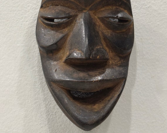 African Mask Dan Tribe Liberia Burnished Wood Dan Mask