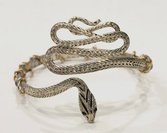 Bracelet Miao Hill Tribe Silver Snake Cuff