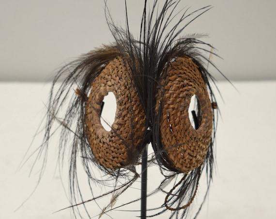 Papua New Guinea Sepik River Kaminabit Village Latmul Fiber Cassowary Feather Sunglasses