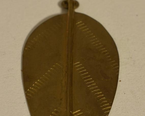 Pendant African Turkana Vintage Brass Spear 78mm