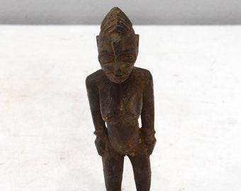 African Statue Senufo Tribe Femal Fetish Wood Statue