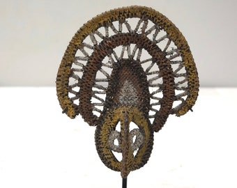 Papua new Guinea Mask Abelam Yam Woven Harvest Mask