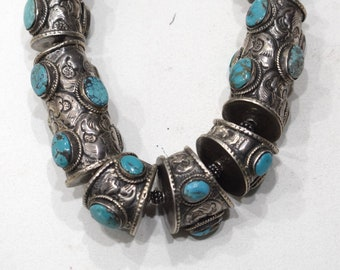 Tibetan Sterling Silver Turquoise Necklace