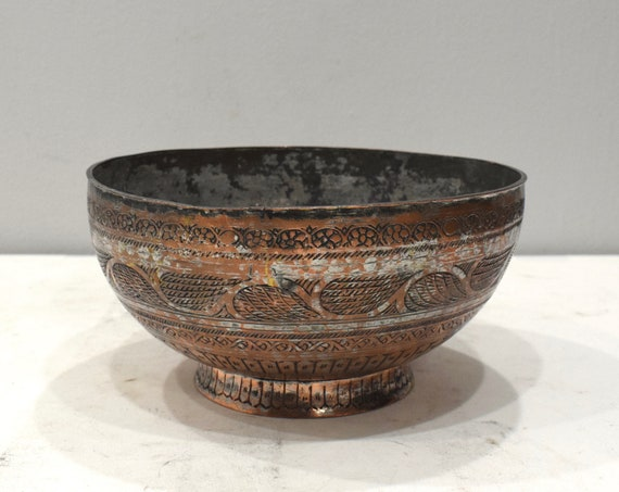 Persian Brass Etched Desgin Brass Bowl