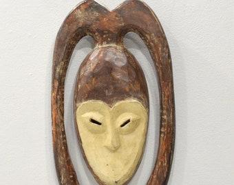 African Kwele Plank Mask Gabon Initiation Mask