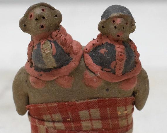 African Doll Painted Clay Double Female Fertility Doll Samburu Kenya