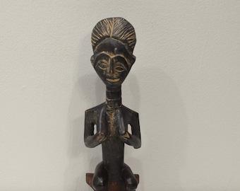 African Ashanti Doll Carved Wood Beaded Fertility Doll