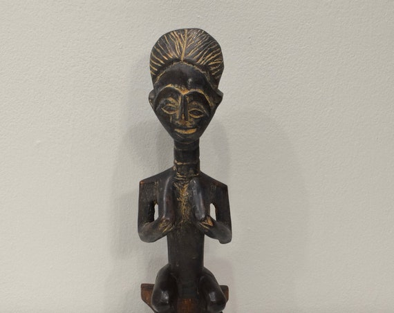 African Ashanti Doll Carved Wood Beaded Fertility Doll