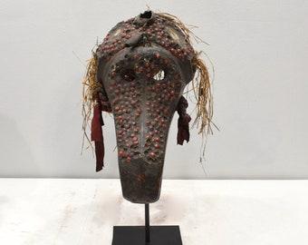 African Mask Baule Tribe Monkey Head Mask