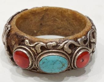 Bracelet Tibetan Silver Turquoise Bangle Bracelet